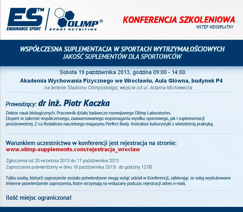 Konferencja Szkoleniowa Olimp Awf Wrocław Forum Sfd